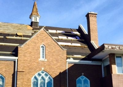roofing at church