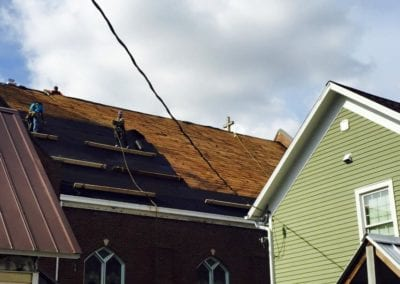 local roofers roofing church