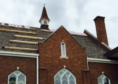 new roof on a church