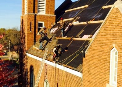 Commercial roofing Job - Church