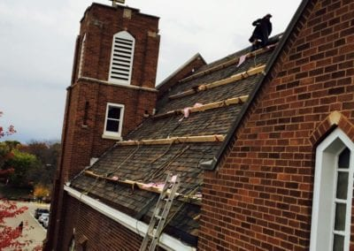 roofing-job-in-process-church