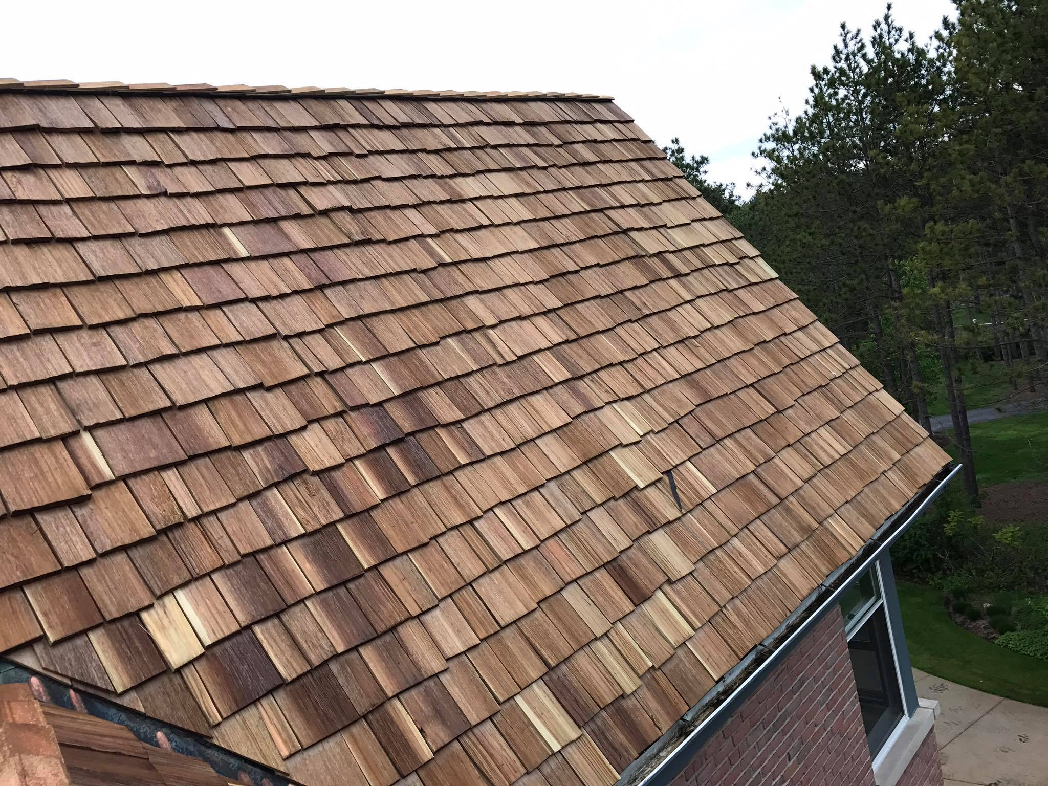 New Residential Cedar Shingle Roof Roofing Siding